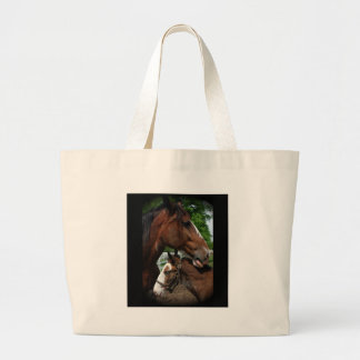 2 clydesdale heads black tote bags