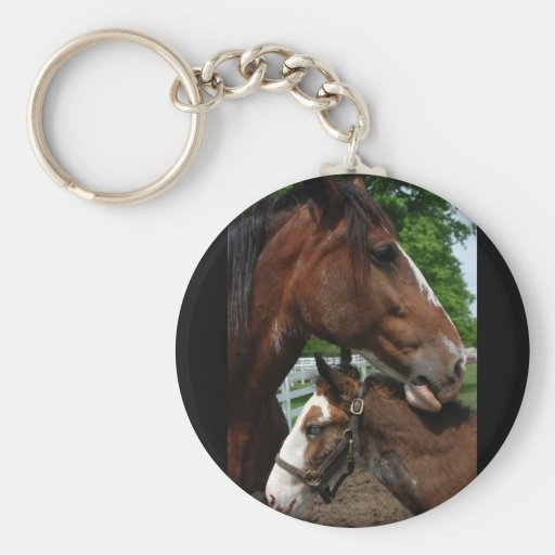 2 clydesdale heads black keychain