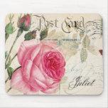 (2) color de rosa alfombrillas de ratones