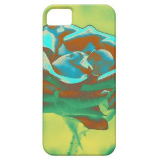 2 color de rosa azules iPhone 5 funda