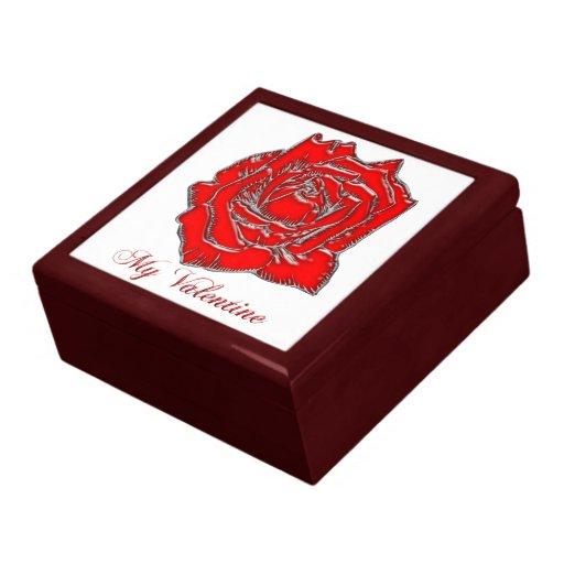 #2 color de rosa caja de regalo