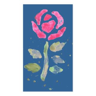 2 color de rosa rosados acuarela por el arte de K Tarjetas De Visita