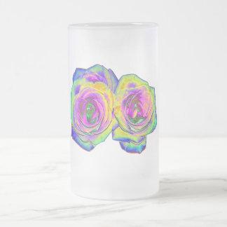 2 Colored Foil Roses (#1) Mugs