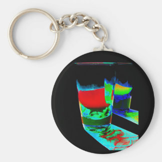 2 Coloured Cocktail Shot Glasses - Style 1 Key Chains