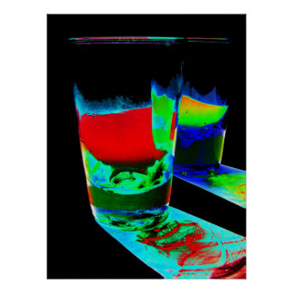 2 Coloured Cocktail Shot Glasses - Style 1 Poster