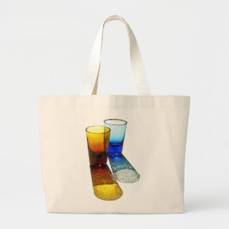 2 Coloured Cocktail Shot Glasses - Style 2 Canvas Bags