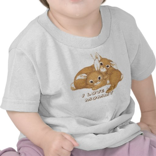 2 conejitos, amo a mi mamá camiseta