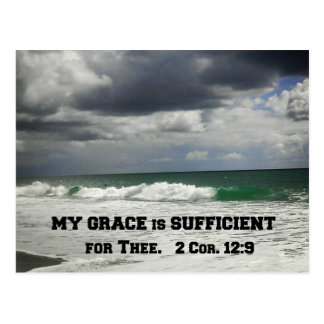2 Cor. 12:9 My Grace is Sufficient for Thee. Postcard