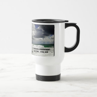 2 Cor. 12:9 My Grace is Sufficient for Thee. Travel Mug