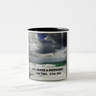 2 Cor. 12:9 My Grace is Sufficient for Thee. Two-Tone Coffee Mug