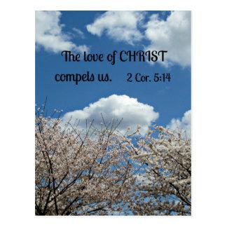 2 Cor. 5:14 The love of Christ compels us. Postcard