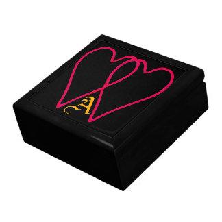 2 corazones junto dos los regalos de Zazzle del MU Caja De Recuerdo