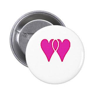 2 corazones juntos aman la plantilla del RB Pin