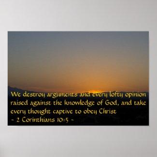 2 Corinthians 10:5 Poster