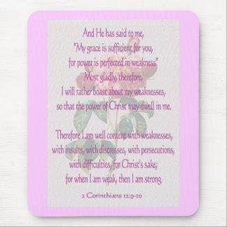2 Corinthians 12:9-10 Mouse Pad
