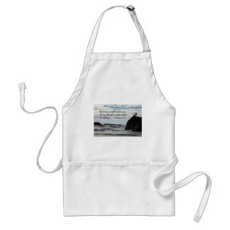 2 Corinthians 12:9 My grace is sufficient for you. Adult Apron
