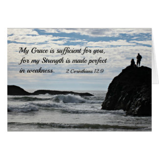 2 Corinthians 12:9 My grace is sufficient for you. Greeting Card
