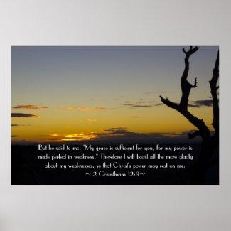 2 Corinthians 12:9 Poster