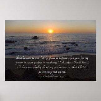 2 Corinthians 12:9 Poster print