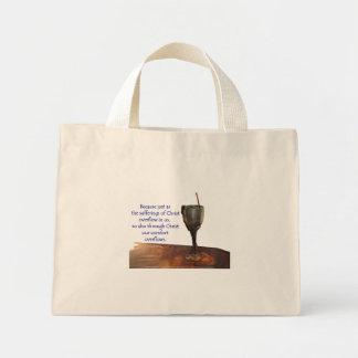 2 Corinthians 1:5 Overflowing Chalice/Sufferings Mini Tote Bag