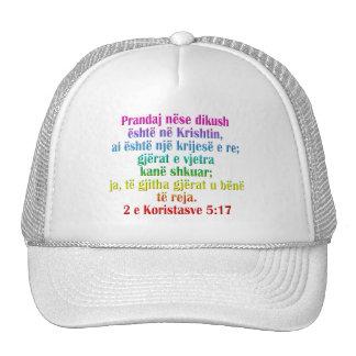 2 Corinthians 5:17 Albanian Trucker Hat