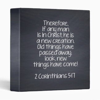 2 Corinthians 5:17 Bible Verse Vinyl Binders