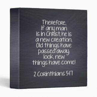 2 Corinthians 5:17 Bible Verse Binder