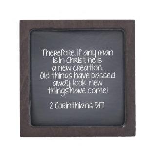 2 Corinthians 5:17 Bible Verse Keepsake Box