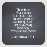 2 Corinthians 5:17 Bible Verse Square Sticker