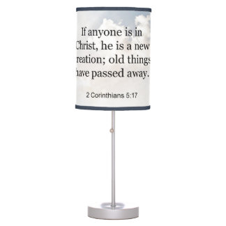 2 Corinthians 5:17 Christian Bible Scripture Table Lamp