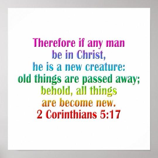 2 Corinthians 5:17 English Poster
