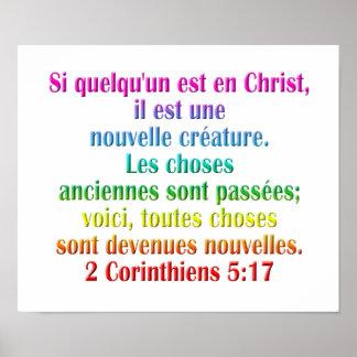 2 Corinthians 5:17 French Print