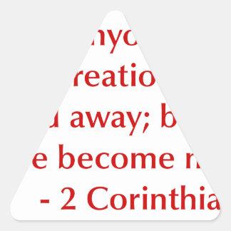 2-Corinthians-5-17-opt-burg.png Triangle Sticker