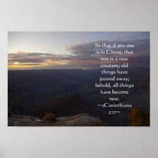 2 Corinthians 5:17 Poster print