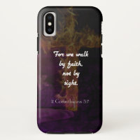 2 Corinthians 5:7 Bible Verse Quote About Faith iPhone X Case