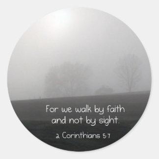 2 Corinthians 5:7 Classic Round Sticker