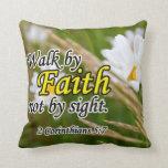2 Corinthians 5:7 Pillow at Zazzle