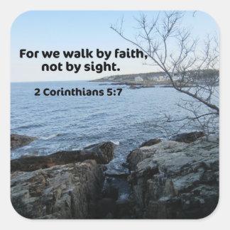 2 Corinthians 5:7 Square Sticker