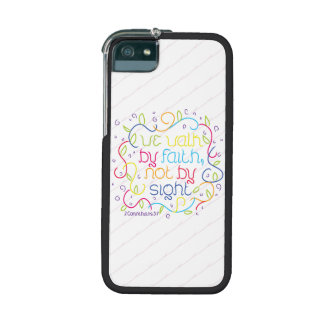 2 Corinthians 5:7 We walk by faith, not by sight. Case For iPhone 5/5S