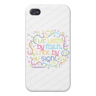 2 Corinthians 5:7 We walk by faith, not by sight. iPhone 4 Case