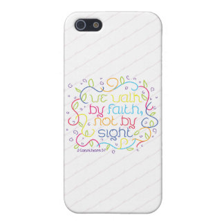 2 Corinthians 5:7 We walk by faith, not by sight. iPhone 5 Cases
