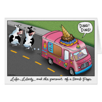 2 Cows and a Chicken Ice Cream Truck Card