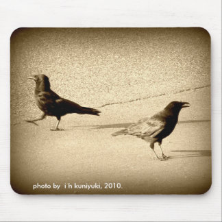 2 Crows out for a Stroll Mouse Pad