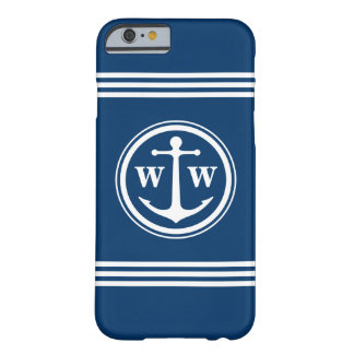 2 Custom Initials Anchor Monogram Barely There iPhone 6 Case