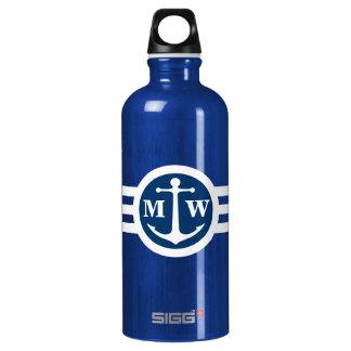 2 Custom Initials Anchor Monogram SIGG Traveler 0.6L Water Bottle