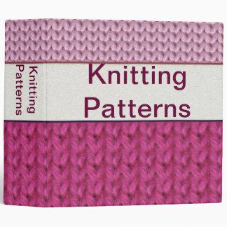 """2"""" Customizable Knitting Pattern Binder"""