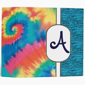 """2"""" Customizable Tie Dye Monogram Binder"""