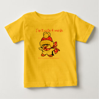 2 Cute 4 Words- baby tee with baby chick