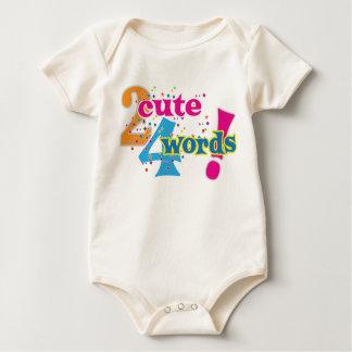 2 cute 4 words baby wear romper
