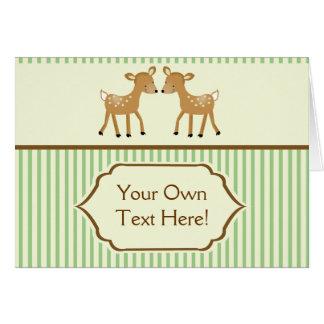 2 Cute Baby Woodland Deer Note Cards